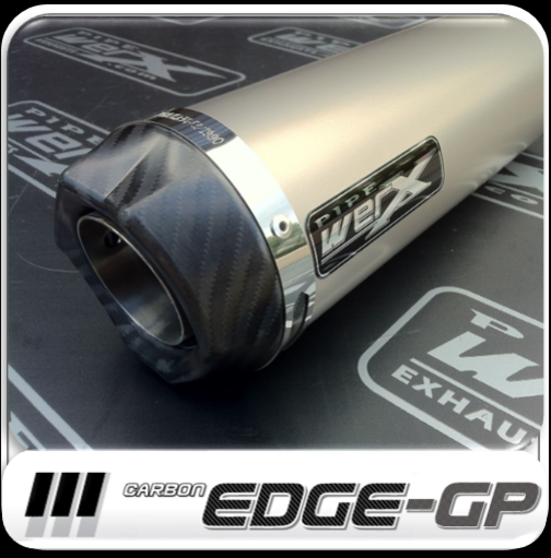 Pipe Werx Suzuki GSX 600 F 97-06 Stainless Oval Exhaust Can Removable Baffle.